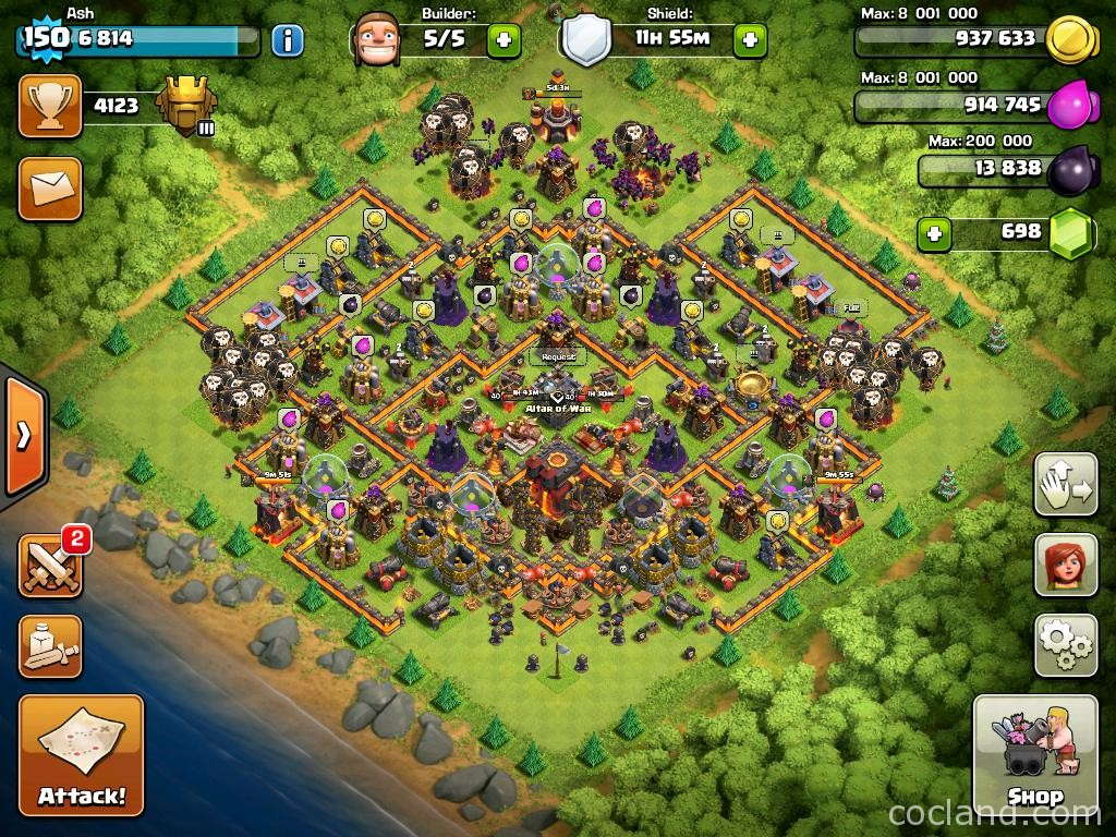 Titanium Layout for Town Hall 10