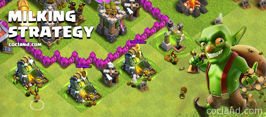 Milking Farming Strategy Clash of Clans