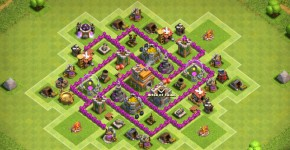 th6 farming base with 2 air defenses