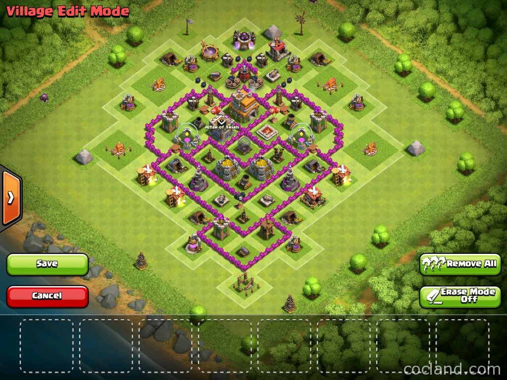 TH7 Farming Base with 3 Air Defenses | Clash of Clans Land