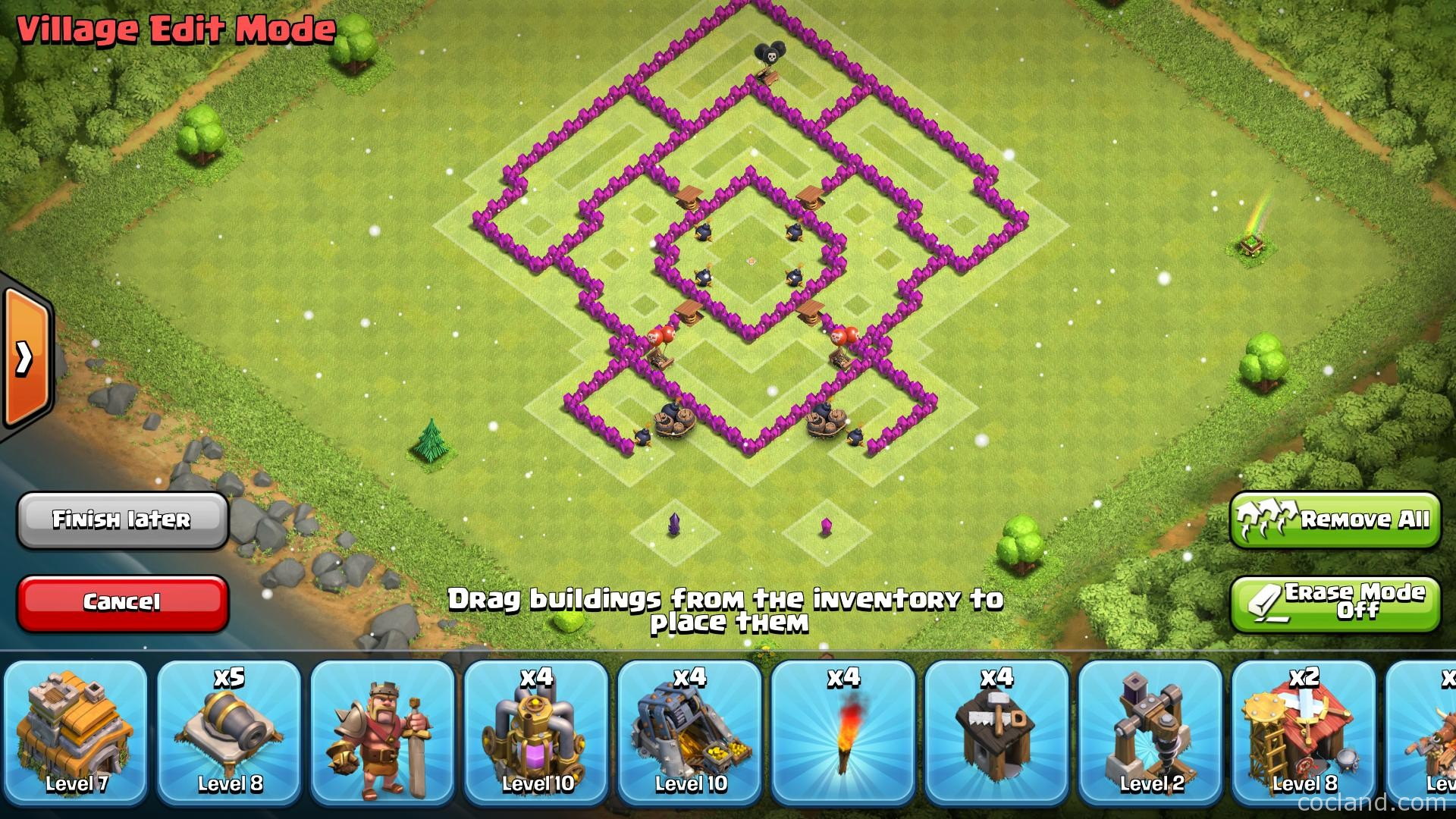 Th7 farming base knoxx anti giant clash of clans land