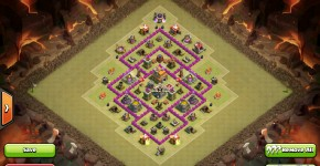 th7 war base with 3 air defenses
