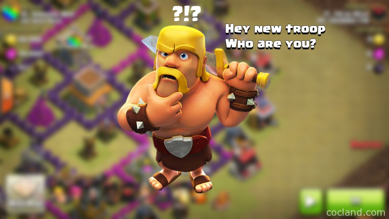 new clash of clans troop