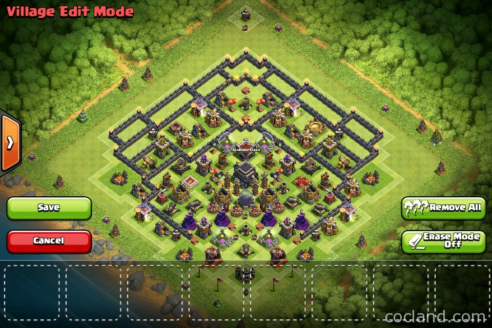 Th9 Home Base Design Part - 24: Th9 Trophy Base