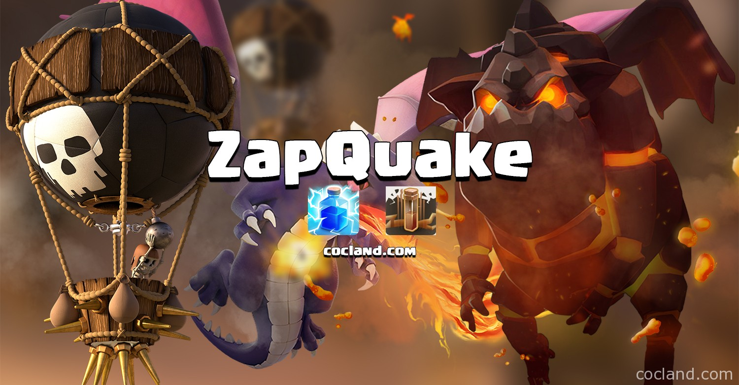 zapquake strategy in clash of clans