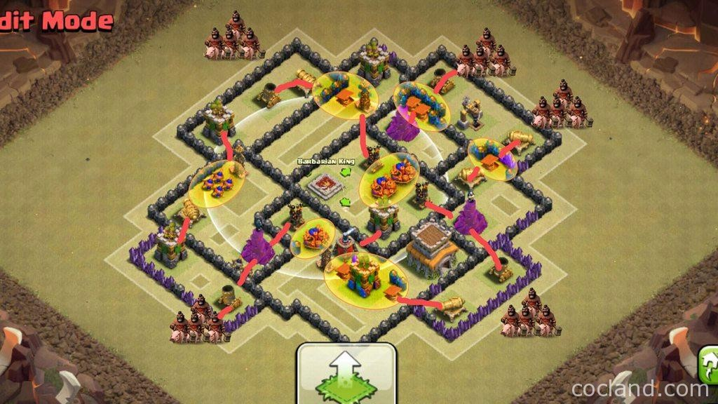 TH8 Base - The Mighty - Excellent Anti 3 Star Clan War Base