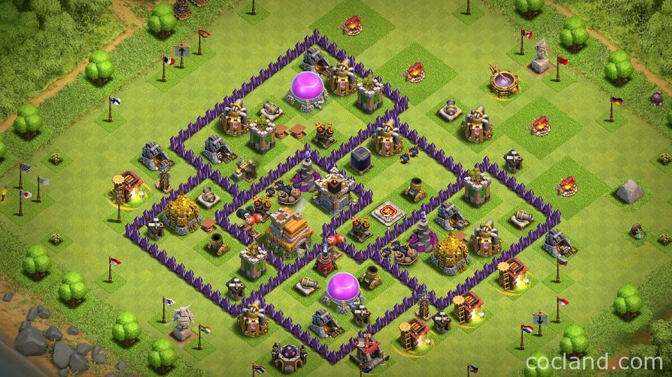 Town Hall 7 Home Base Design Part - 44: Town Hall 7 Hybrid Base
