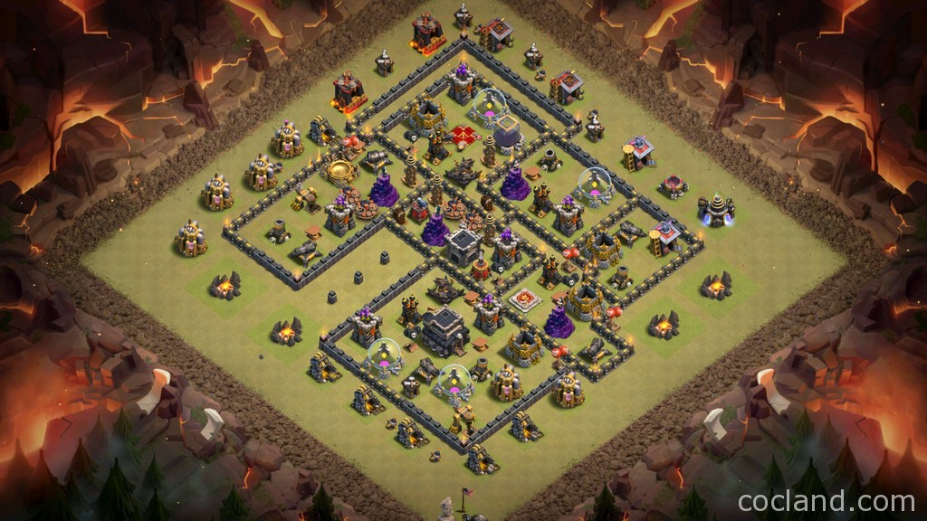 Town Hall 9 Anti-3 Custom War Base