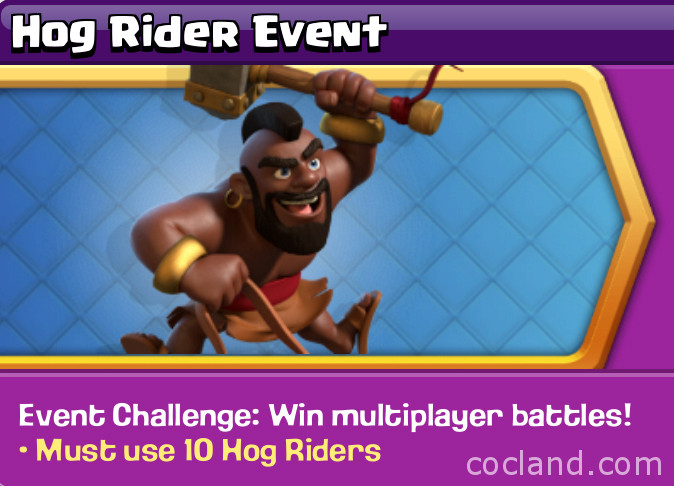 Clash of Clans Hog Rider Event