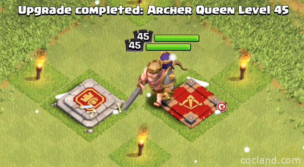Clash of Clans Heroes level 45